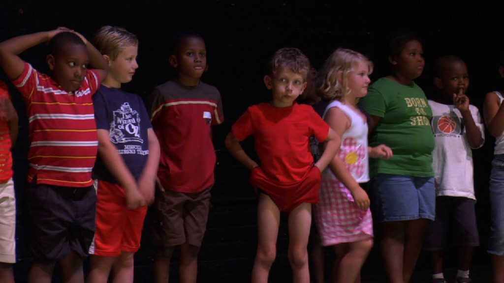 Children standing in casting